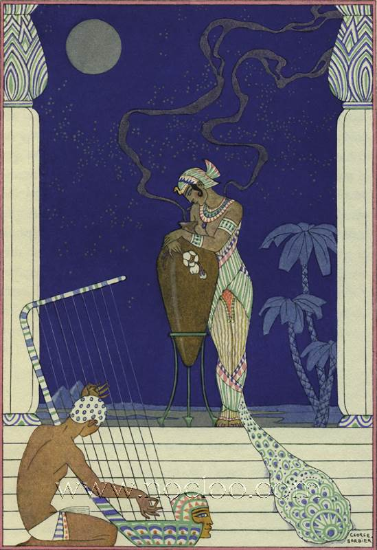 george barbier the romance of perfume 1928. Black Bedroom Furniture Sets. Home Design Ideas