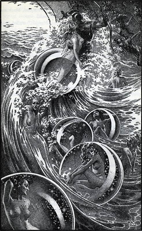 Virgil Finlay - The Ship of Ishtar 1949