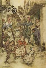 Arthur Rackham - Pied Piper of Hamelin