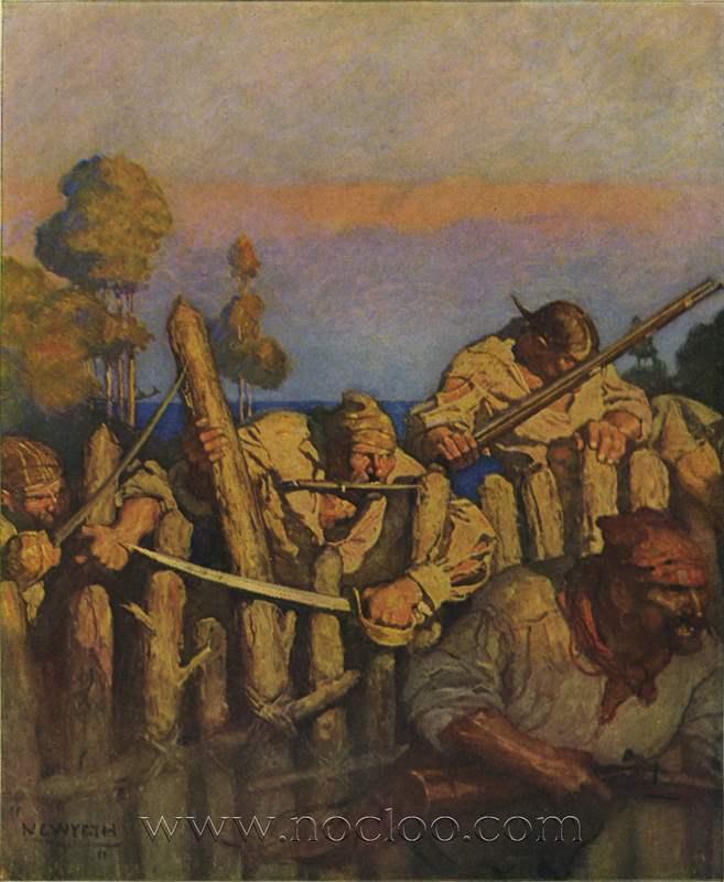 N C Wyeth Treasure Island 1911