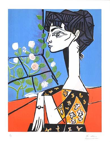 Femne Au Roses Picasso 1956