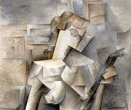 Pablo Picasso, 1910, Girl With A Mandolin