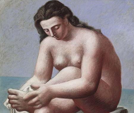 Pablo Picasso, 1921, Nu Assis S'essuyant Le Pied (Seated Nude Drying Her Foot)