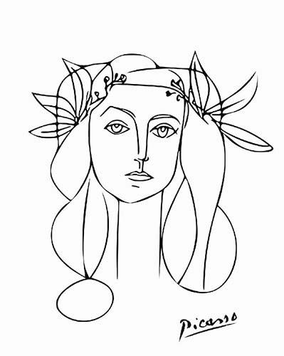 Portrait of Francoise Gilot Picasso