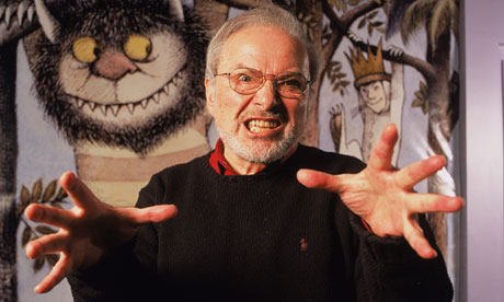 Author/illustrator Maurice Sendak Standing By An Life Size