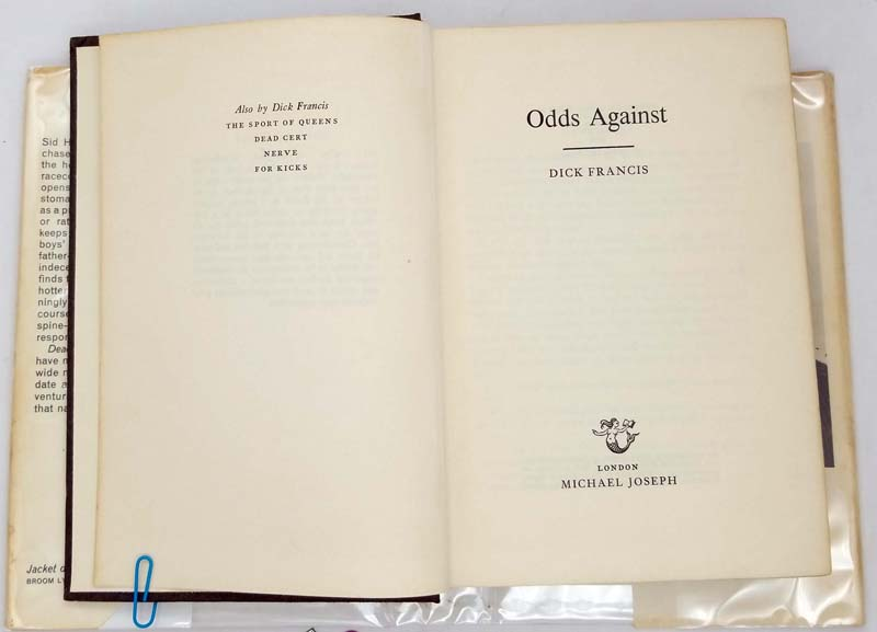 Odds Against - Dick Francis 1965