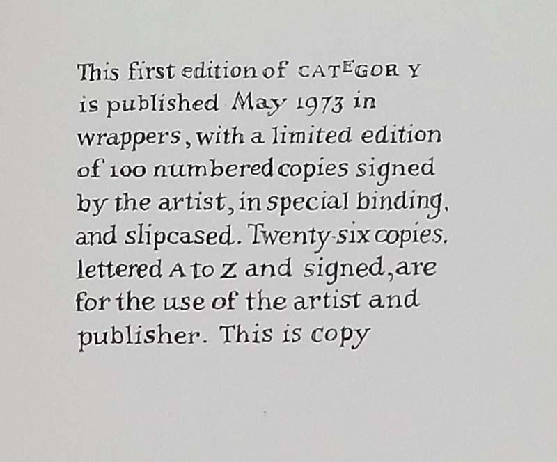 Category - Edward Gorey 1973