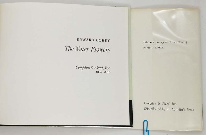 The Water Flowers - Edward Gorey 1982
