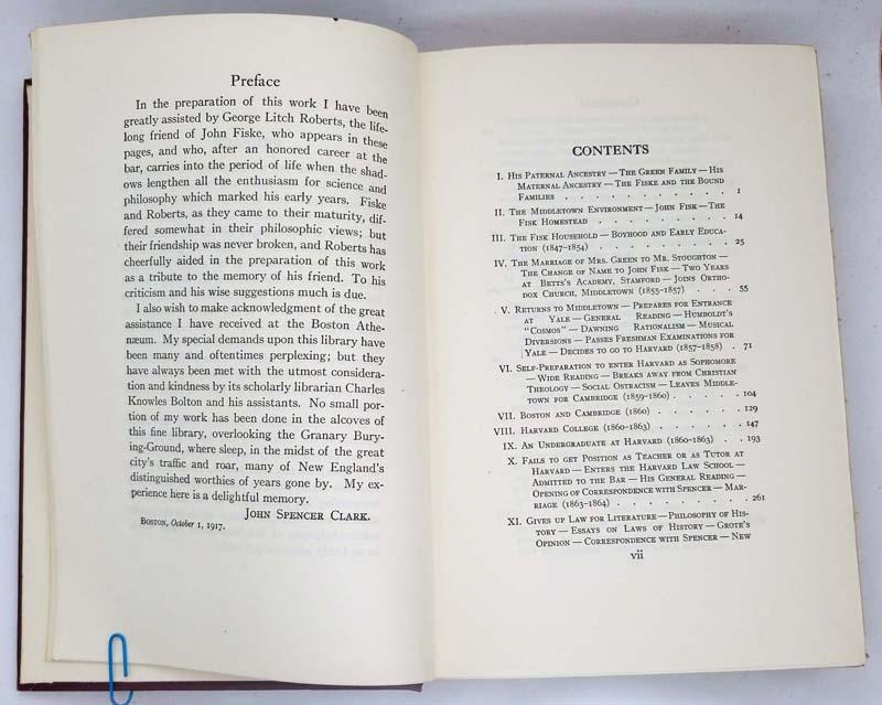 The Life and Letters of John Fiske - John Spencer Clark 1917