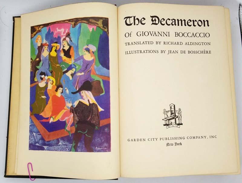 The Decameron of Giovanni Boccaccio - Jean de Bosschere 1930