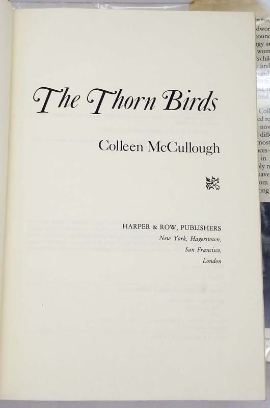 The Thorn Birds - Colleen McCullough 1977