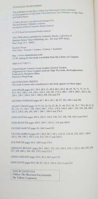 A Tolkien Bestiary - David Kay 1998