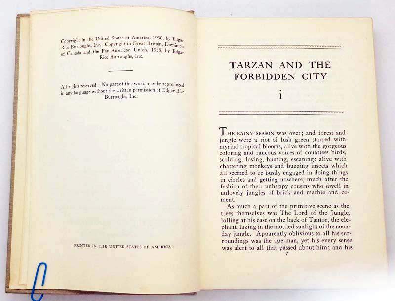 Tarzan and the Forbidden City - Edgar Rice Burroughs 1938