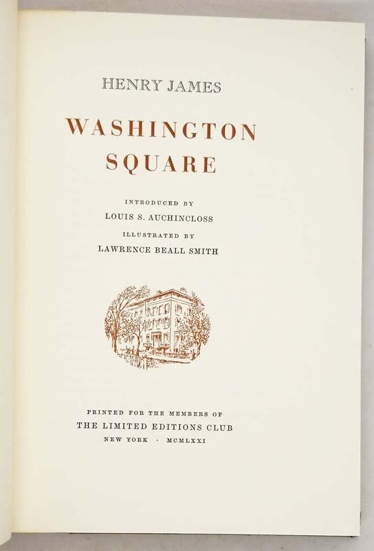 Washington Square - Henry James Limited Edition Club