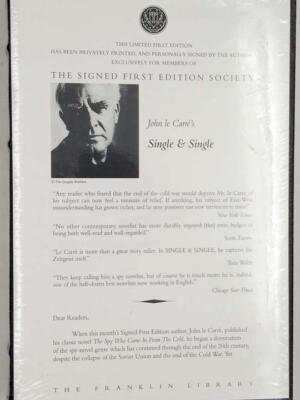 Single and Single - John Le Carré 1999 SIGNED