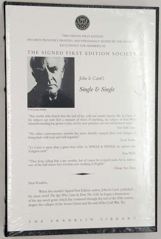 Single and Single - John Le Carré 1999 SIGNED