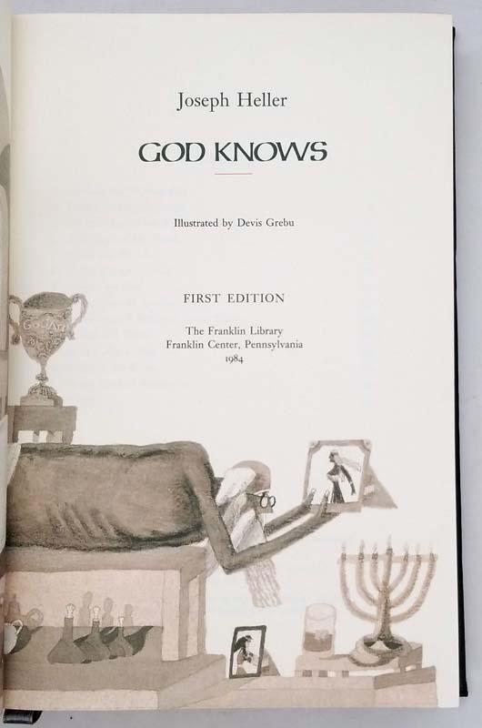 God Knows - Joseph Heller 1984 SIGNED