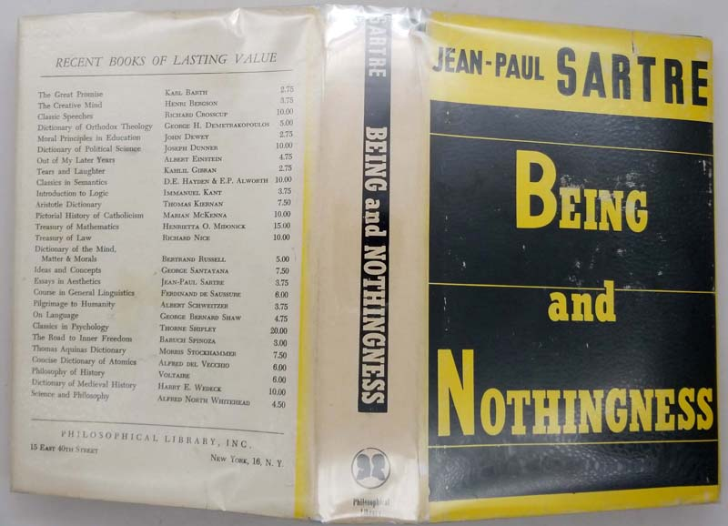 Being and Nothingness - Jean-Paul Sartre 1956