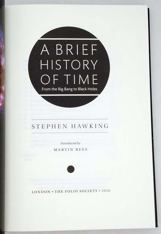 A Brief History of Time - Stephen Hawking 2016