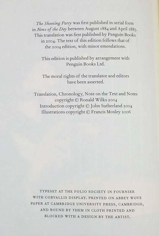 The Shooting Party - Anton Chekov 2006   Folio Society