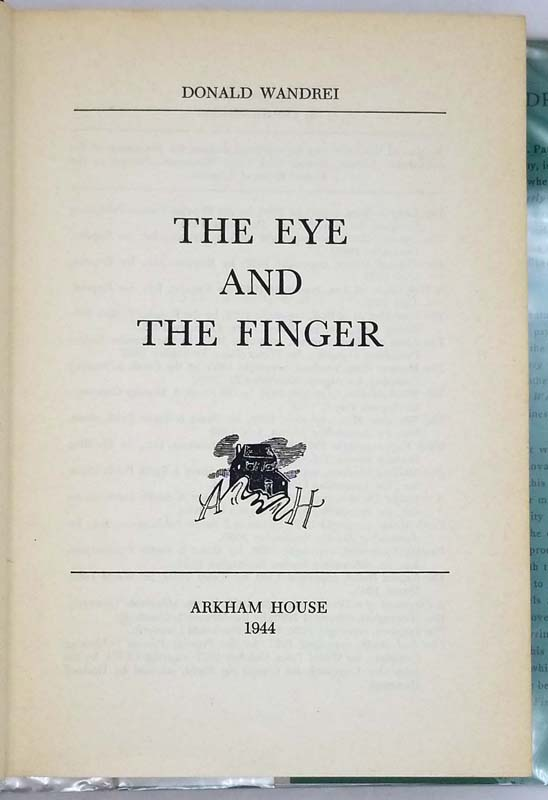 The Eye and the Finger - Donald Wandrei 1944