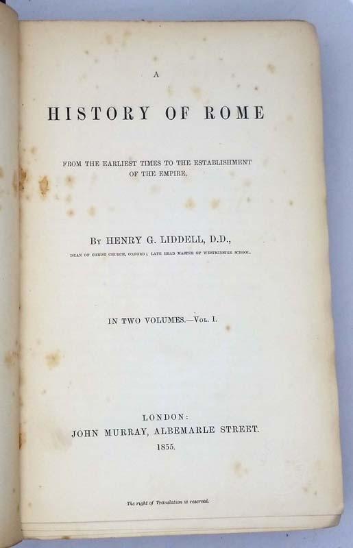 A History of Rome - Henry G. Liddell 1855