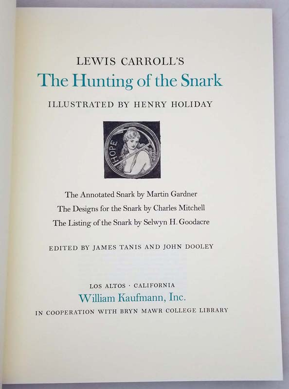 Hunting of the Snark - Lewis Carroll