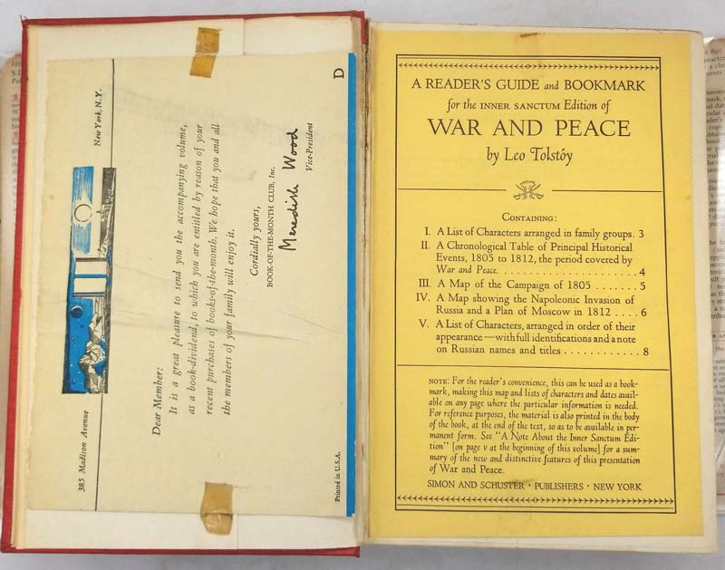 War & Peace - Leo Tolstoy 1942 | Inner Sanctum Edition