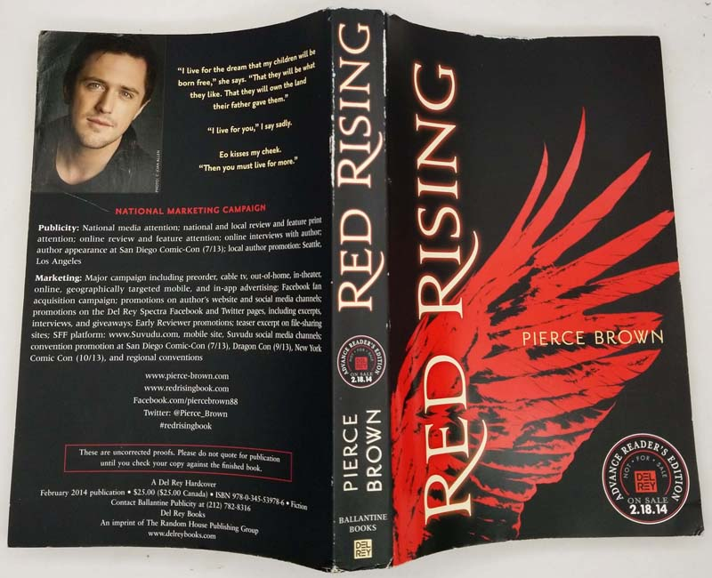 Red Rising - Pierce Brown 2013 ARC Uncorrected Proof