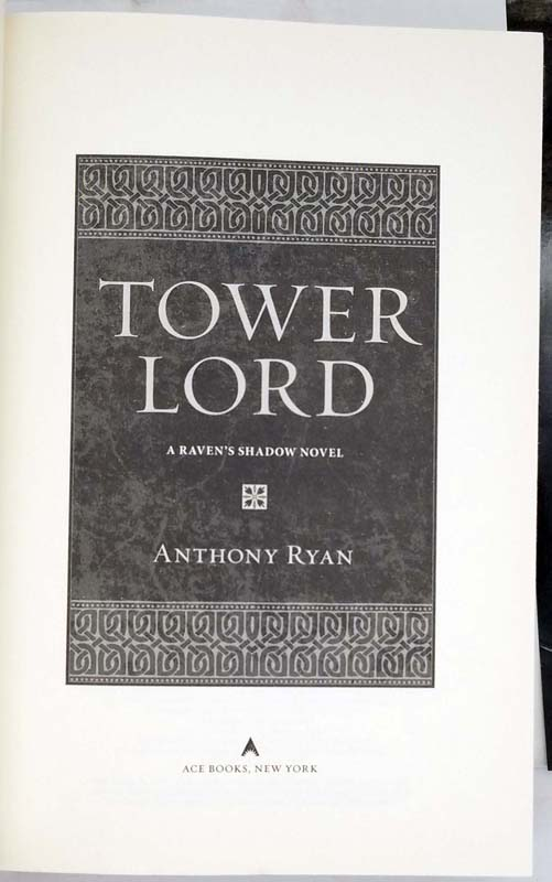 Tower Lord - Anthony Ryan 2014 | 1st Edition
