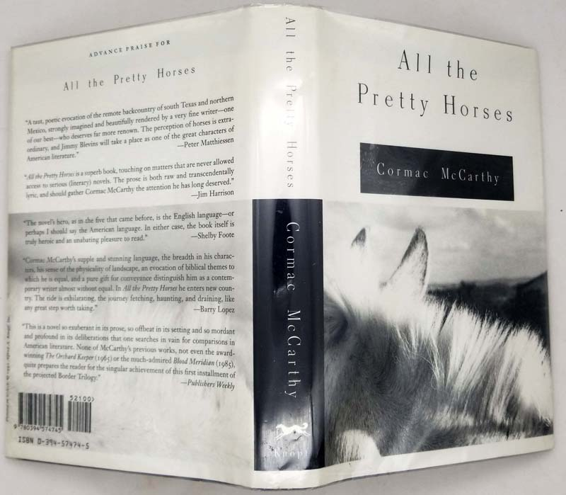 All The Pretty Horses - Cormac McCarthy 1992 | 1st Edition