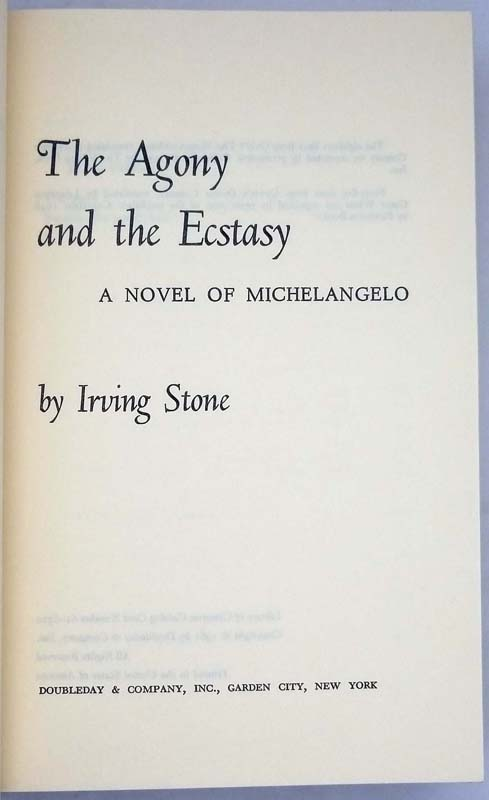 The Agony and the Ecstasy & I, Michelangelo, Sculptor Box Set - Irving Stone   SIGNED