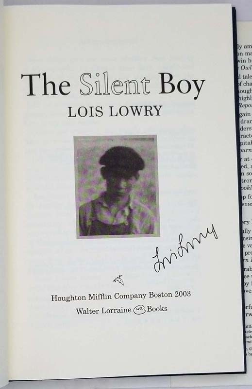 The Silent Boy - Lois Lowry 2003 | 1st Edition SIGNED