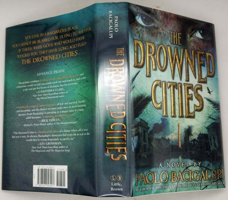The Drowned Cities - Paolo Bacigalupi 2012 SIGNED | 1st Edition