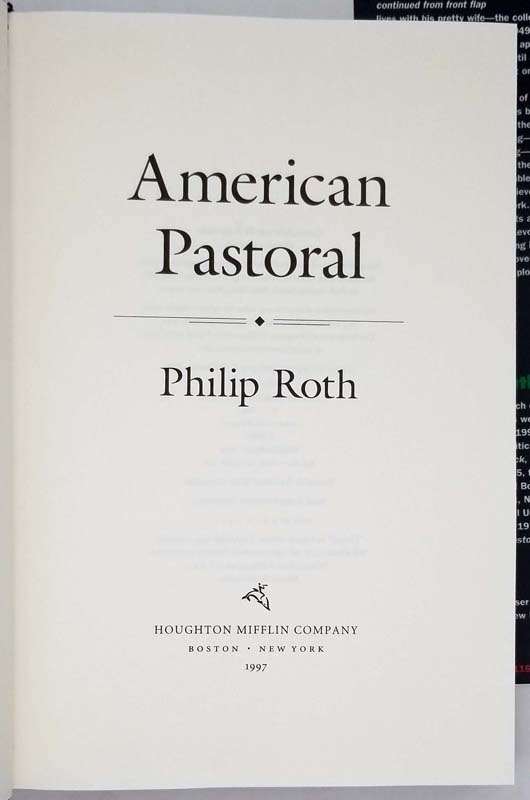 American Pastoral - Philip Roth 1997 | 1st Edition
