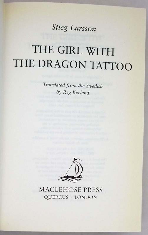 The Girl with the Dragon Tattoo - Stieg Larsson 2005 | 1st Edition