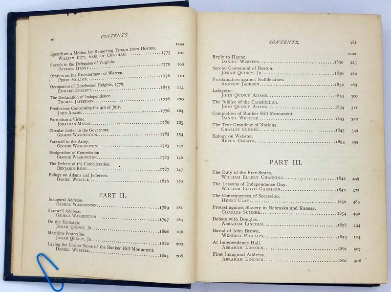 American Patriotism 1764-1876 - Selim H. Peabody 1886   1st edition