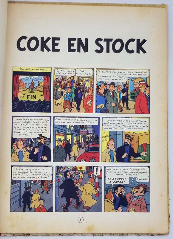 Tintin - Coke en Stock - Hergé 1958 | 1st Edition