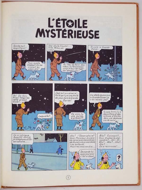 Tintin L'Etoile Mystérieuse - Hergé 1966