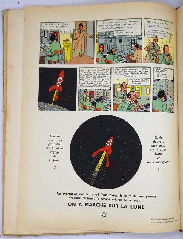 Tintin Objectif Lune - Hergé 1953
