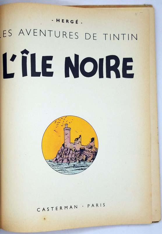 Tintin L'Île Noir - Hergé 1958