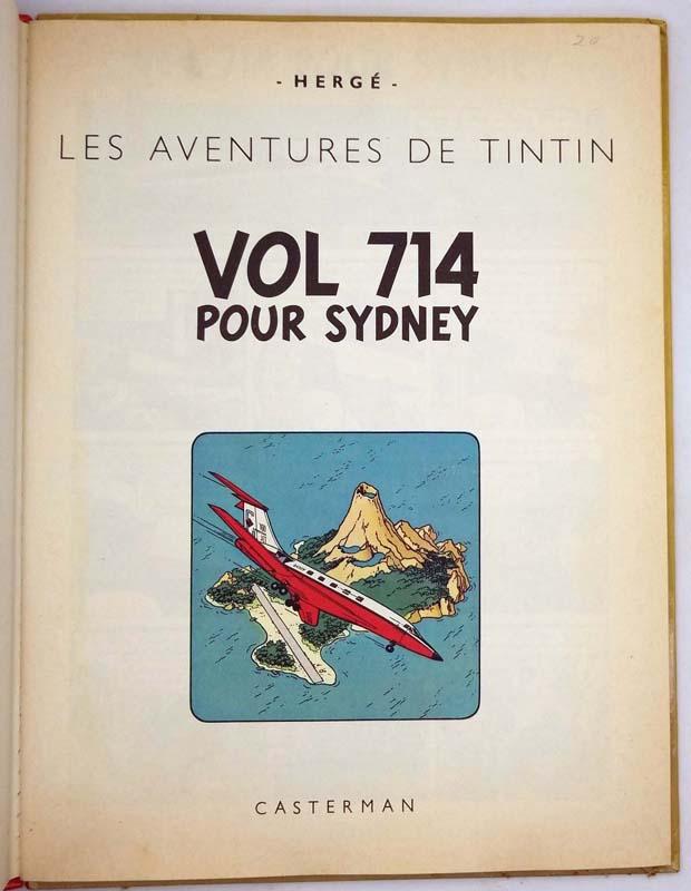 Tintin Vol 714 Pour Sydney - Hergé 1968