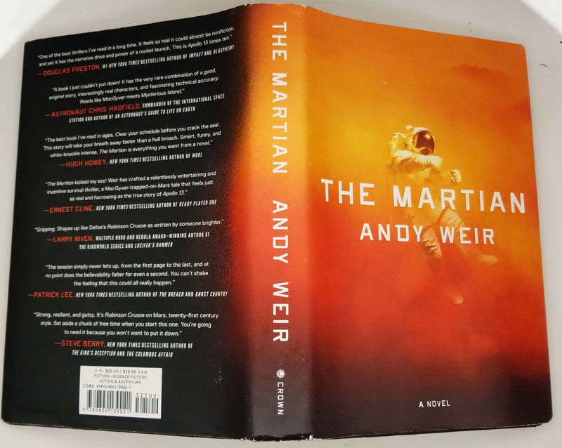 The Martian - Andy Weir 2014 SIGNED