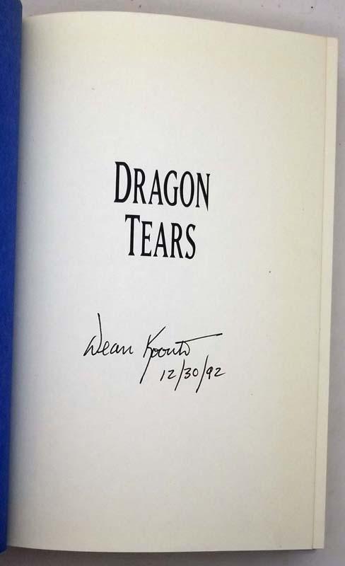 Dragon Tears - Dean Koontz 1993 | 1st Edition SIGNED