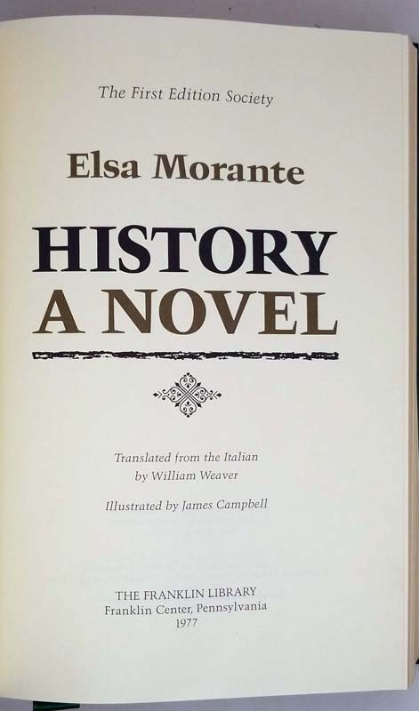 History - Elsa Morante 1977 | 1st Edition