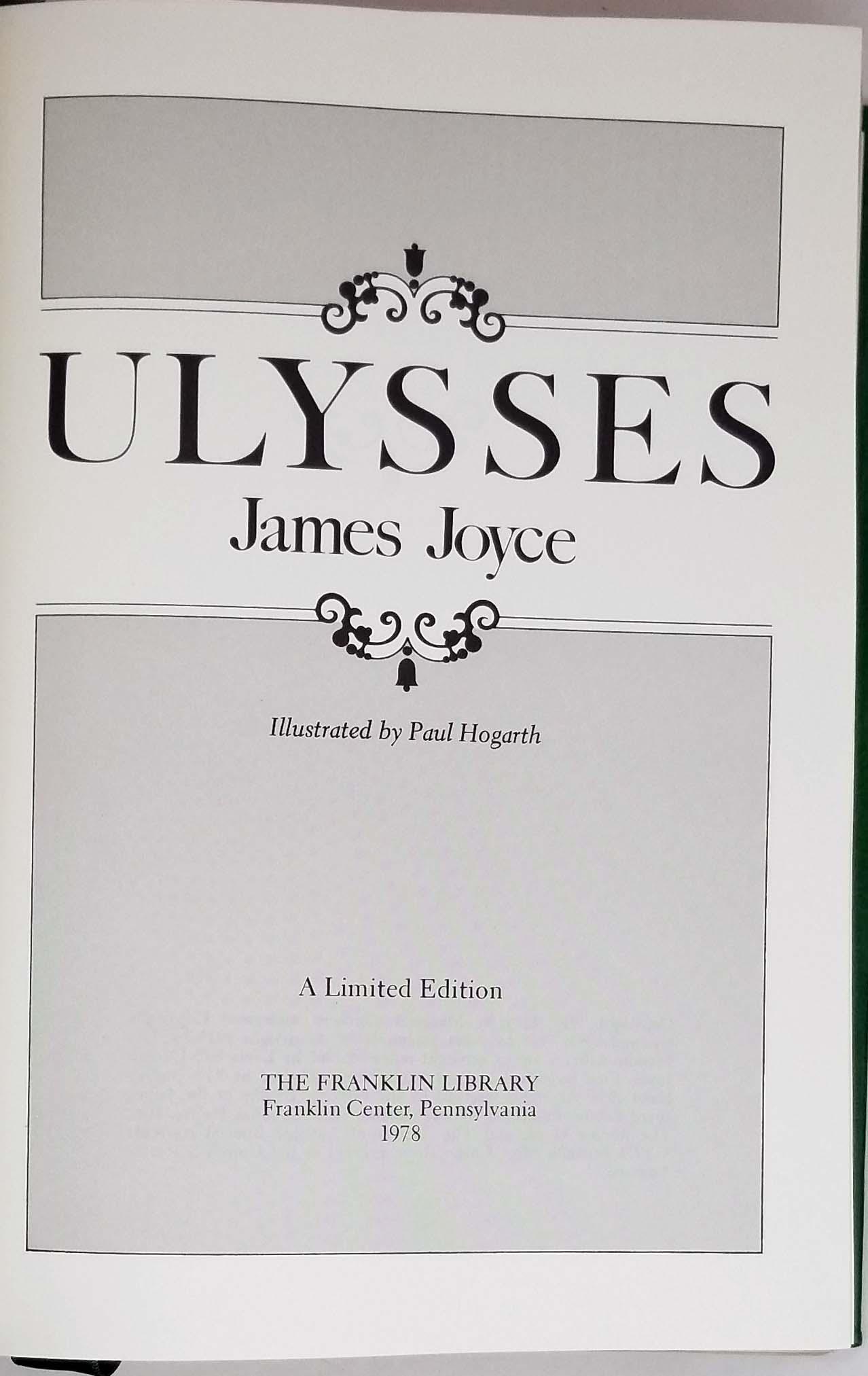 Ulysses - James Joyce 1978   Franklin Library