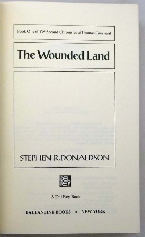 The Wounded Land - Stephen R. Donaldson 1980 | 1st Edition