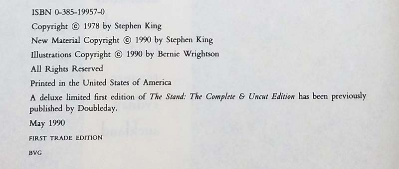 The Stand Complete Uncut - Stephen King 1990   1st Edition