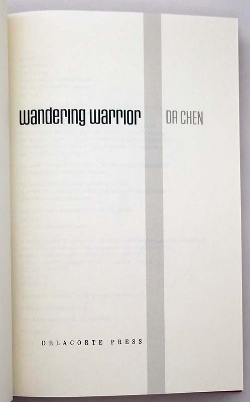 Wandering Warrior - Da Chen 2003 | 1sst Edition SIGNED