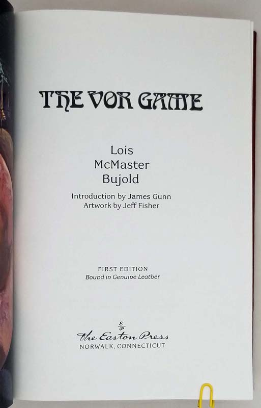 The Vor Game - Lois McMaster Bujold 1990 | 1st Edition SIGNED
